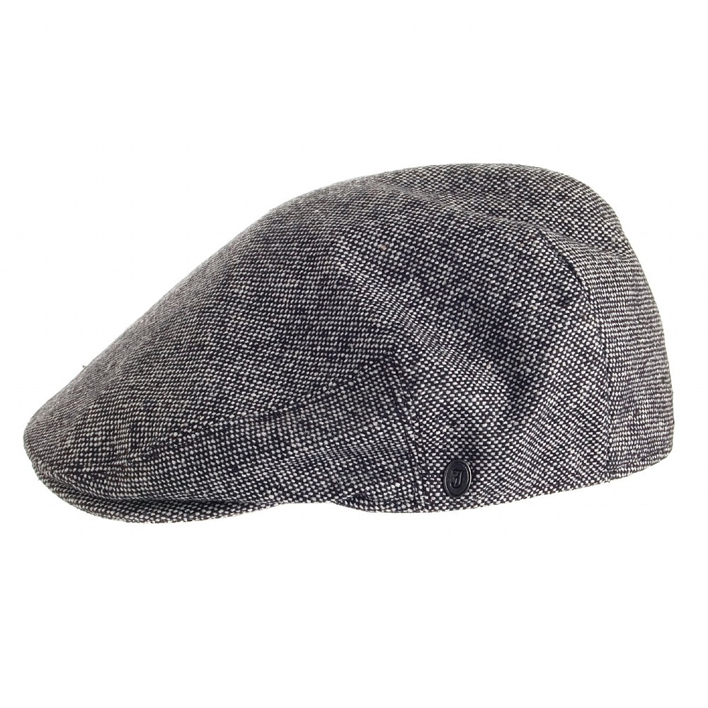 Sixpence Flat Cap Jaxon Hats Marl Tweed Flat Cap Sort
