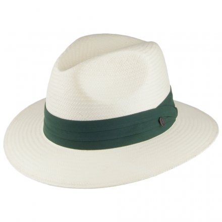Hatte - Jaxon Toyo Safari Fedora With Olive Band (hvid)
