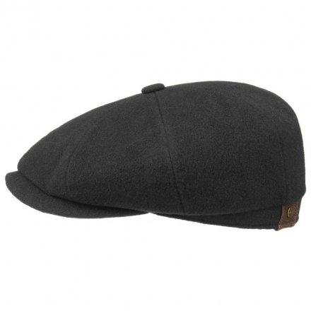 Sixpence / Flat cap - Stetson Hatteras Wool/Cashmere (sort)
