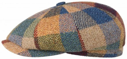 148701c8c01 Sixpence   Flat cap - Stetson Hatteras Lambswool Patchwork (multi)