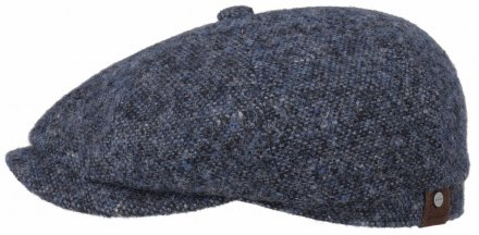 Sixpence / Flat cap - Stetson Hatteras Donegal Tweed (blå)
