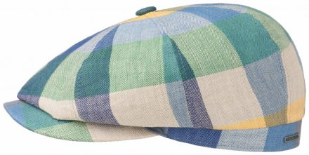 Sixpence / Flat cap - Stetson Hatteras Linen Check (multi)