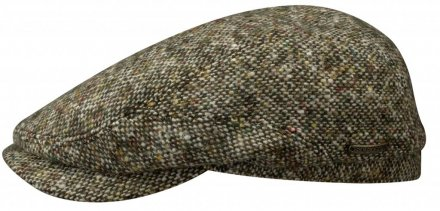 Sixpence / Flat cap - Stetson Belfast Donegal Tweed (grøn mix)
