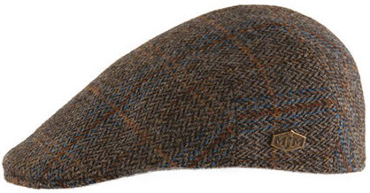 Sixpence / Flat cap - MJM Country Harris Tweed (brun)
