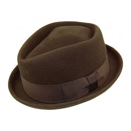 Hatte - Diamond Crown Pork Pie Hat (brun)
