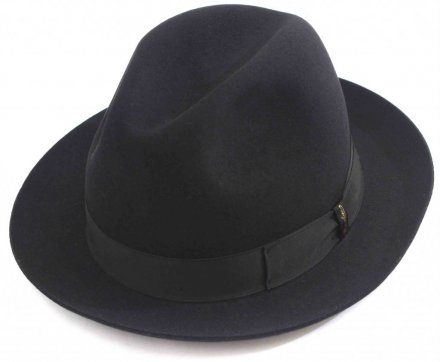 Hatte - Borsalino Marengo Medium Brim Fedora (sort)
