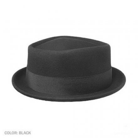 Hatte - Diamond Crown Pork Pie Hat (sort)