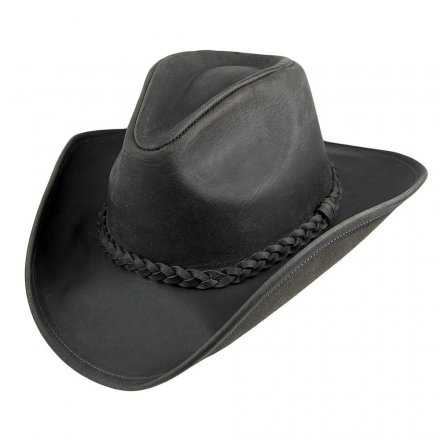 Hatte - Jaxon Hats Buffalo Leather Cowboy (sort)