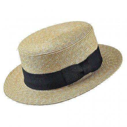 Hattar - Jaxon Straw Boater Hat Black Band (natur) 53da2dcfbc763