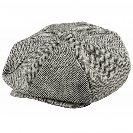Caps - Jaxon Hats Herringbone Big Apple Cap (grå)