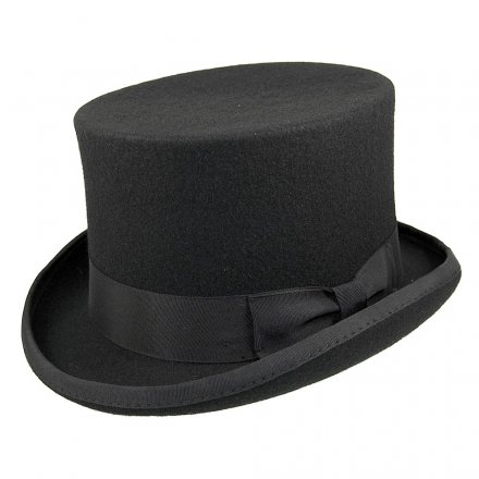 Hatte - Mid-Crown Top Hat (høj hat) (sort)