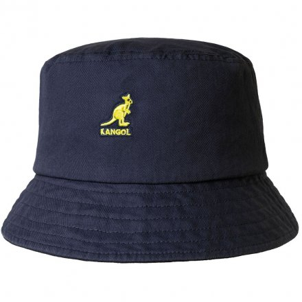 Hatte - Kangol Washed Bucket (marineblå)