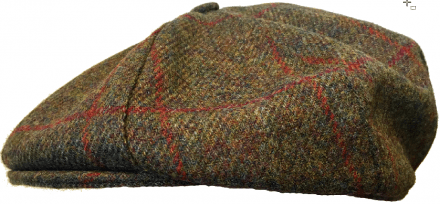 Sixpence / Flat cap - Lawrence and Foster York (mørkegrøn tweed)