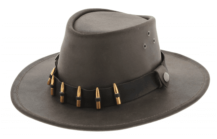 Hatte - Jacaru Hunter Oiled Leather Hat (brun)