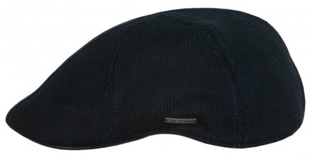 Sixpence / Flat cap - Stetson Texas Cotton Knit (sort)