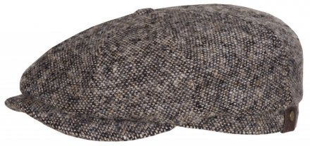 Sixpence / Flat cap - Stetson Hatteras Donegal Tweed (beige-sort)