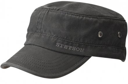 Sixpence / Flat cap - Stetson Army Cap (sort)
