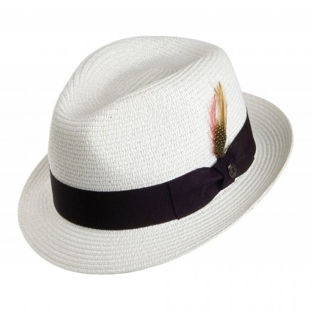 Hatte - Toyo Braided Trilby (hvid)