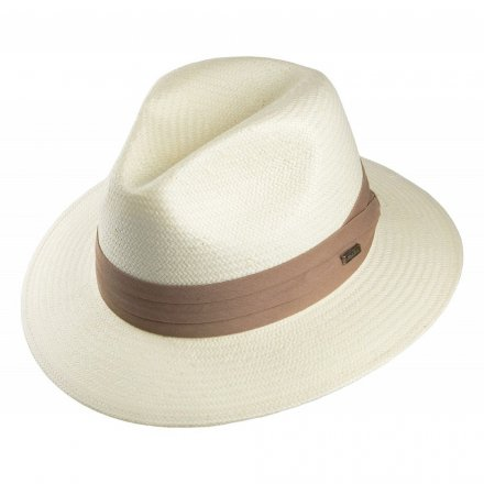 Hatte - Toyo Safari Fedora With Khaki Band (hvid)