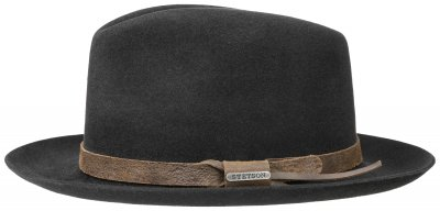 Hatte - Stetson Downey Fur Felt (sort)