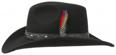 Hatte - Stetson Wapello (sort)