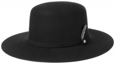 Hatte - Stetson Open Crown Woolfelt (sort)