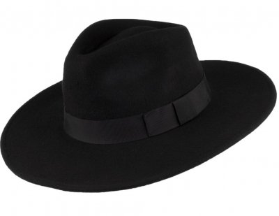 Hatte - Jaxon The Author Wide Brim Fedora Hat (sort)