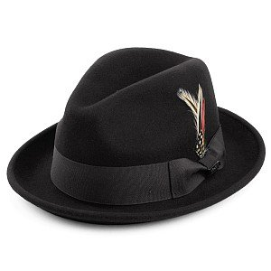 Hatte - Crushable Blues Trilby (sort)