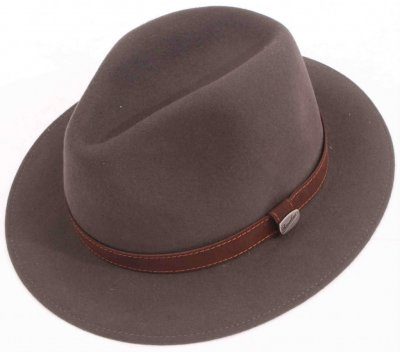 Hatte - Borsalino Alessandria Leather Band Fedora (grå)