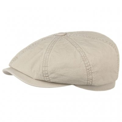 Sixpence / Flat cap - Stetson Hatteras Delave Organic Cotton (beige)