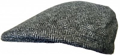 Sixpence / Flat cap - Lawrence and Foster Garforth (grå herringbone)