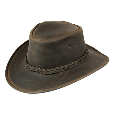 Hatte - Jaxon Hats Crushable Leather Outback (brun)