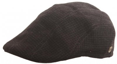 Sixpence / Flat cap - MJM Maddy EL Wool Mix (sort pattern)