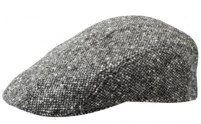 Sixpence / Flat cap - Stetson Ivy Cap Donegal Tweed (sort-hvid)