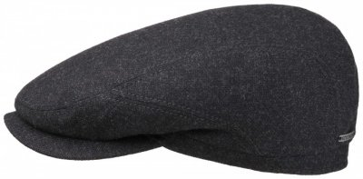 Sixpence / Flat cap - Stetson Belfast Wool/Cashmere (antracit)