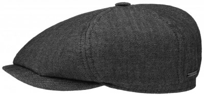 Sixpence / Flat cap - Stetson Oregon Wool/Linen (sort)