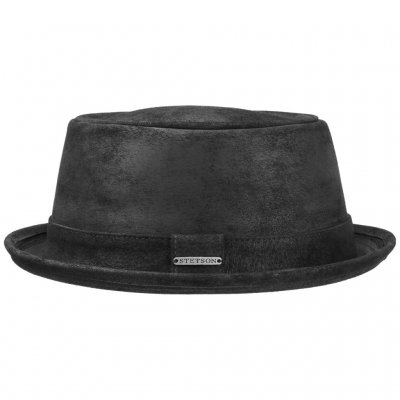 Hatte - Stetson Hobbs Leather (sort)