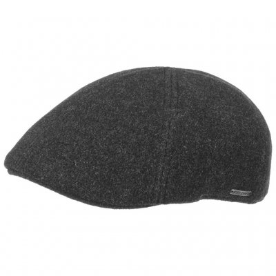 Sixpence / Flat cap - Stetson Texas Wool/Cashmere (antracit)