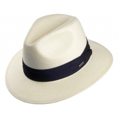 Hatte - Toyo Safari Fedora With Black Band (hvid)